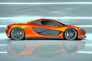 Preciosa vista lateral del prototipo McLaren P1...