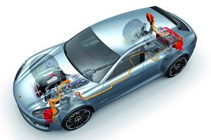 El Porsche Panamera Sport Turismo puede conducirse, en modo eléctrico, durante más de 30 kilómetros y hasta 130 km/h