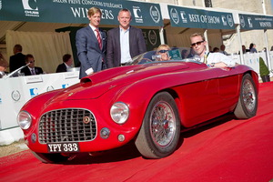 """El Ferrari 166 MM Barchetta de 1950, ganador del """"Best of Show"""" del Concours d'Elégance"""