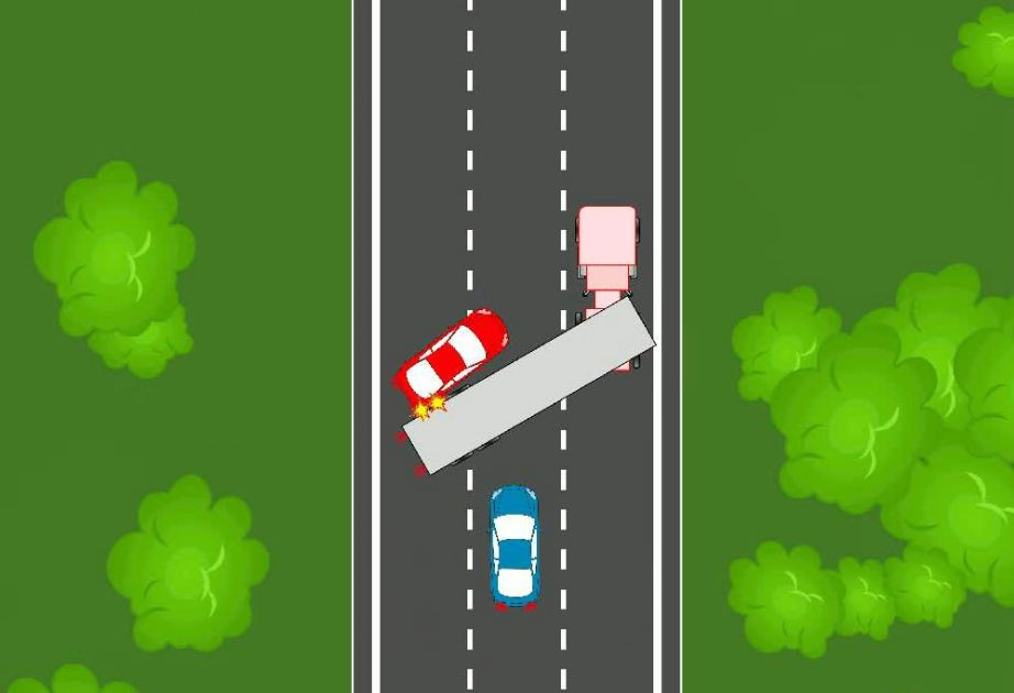 efecto tijera camion