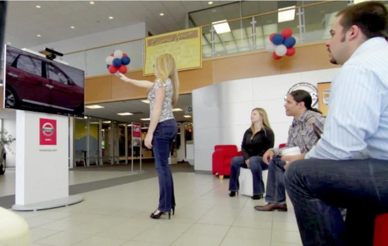nissan kinect experience