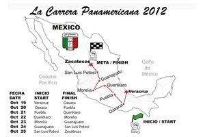 Recorrido de la Carrera Panamericana en su edición 2012