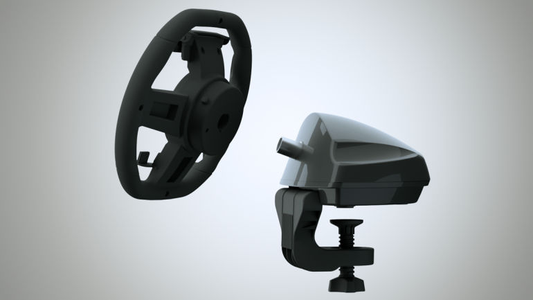 Convierte un iPad en volante de juegos Kolos-ipad-racing-wheel-2