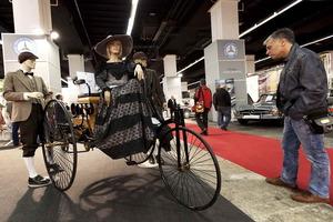 El primer vehículo patentado en 1886 por Karl Friedrich Benz