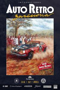 Cartel anunciador del Salón Auto Retro Barcelona 2011