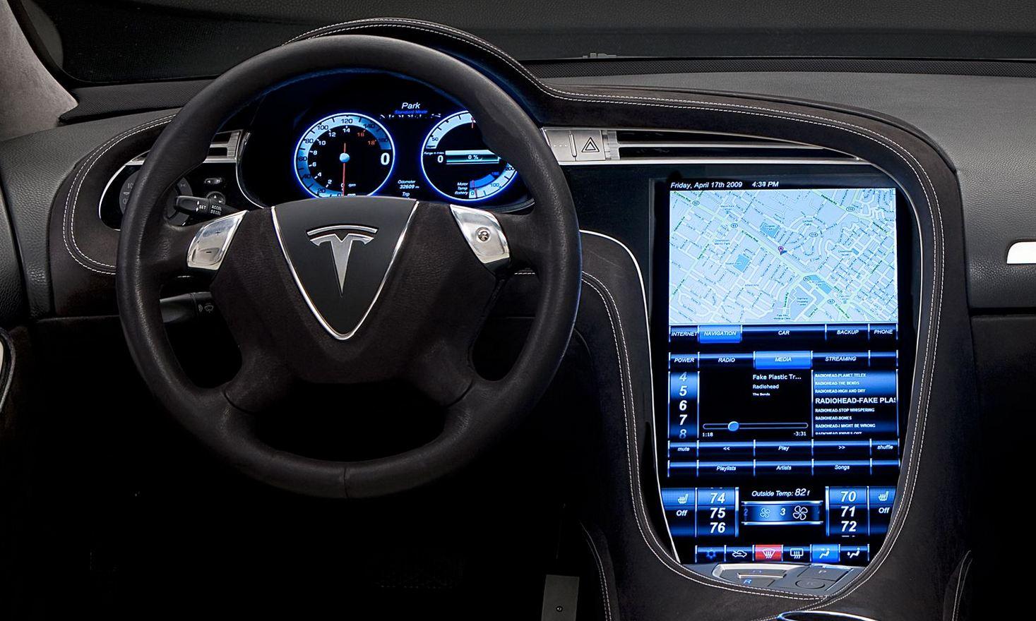 Tesla Model S pantalla
