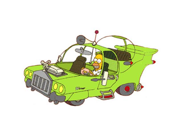 coche homer simpson