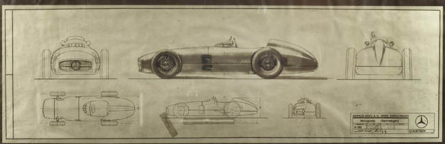 1954 Mercedes-Benz W196R Formula 1 Racing Single-Seater design