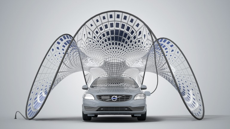 Volvo cargador solar