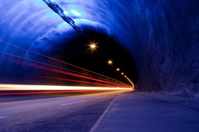 tunel luces