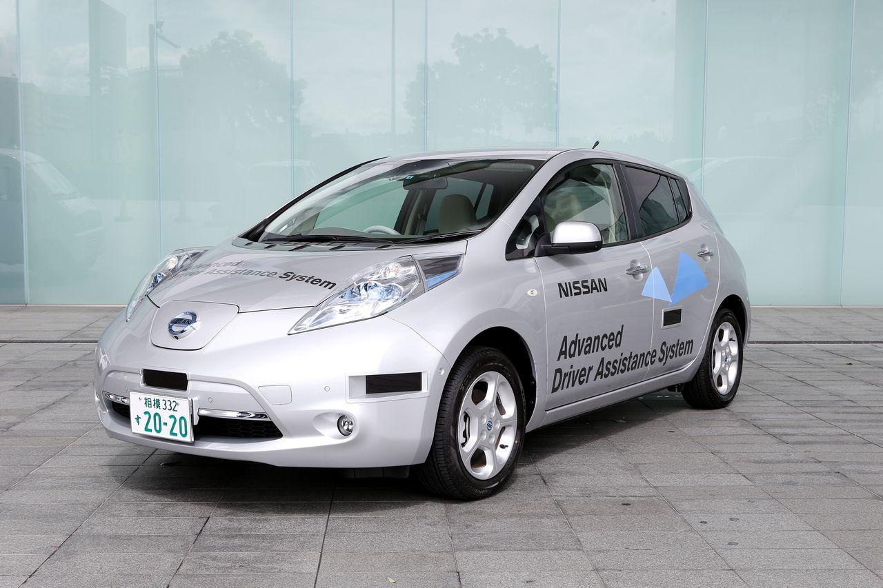Nissan Leaf autonomo matricula japon