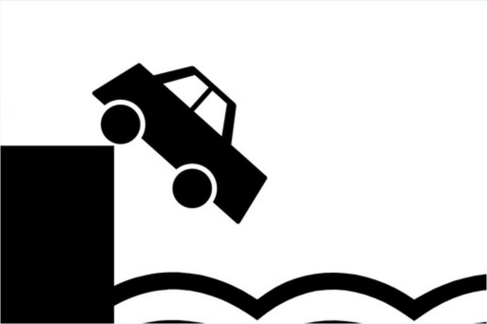 caida coche mar