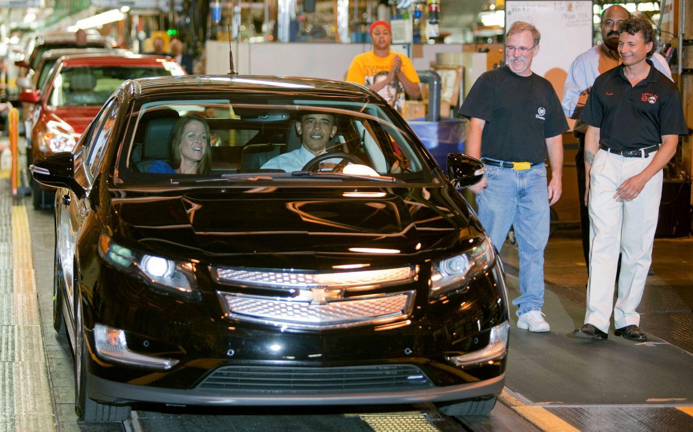 industria coches estados Unidos chevrolet volt obama