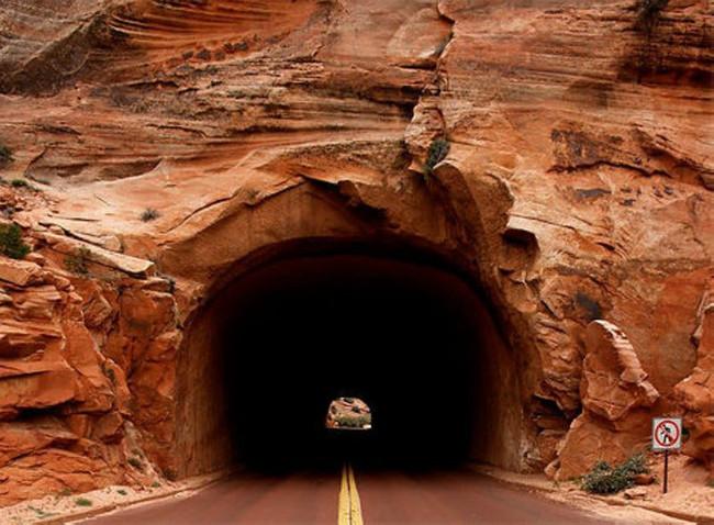 Túnel de Zion Monte Carmelo, Utah, EEUU