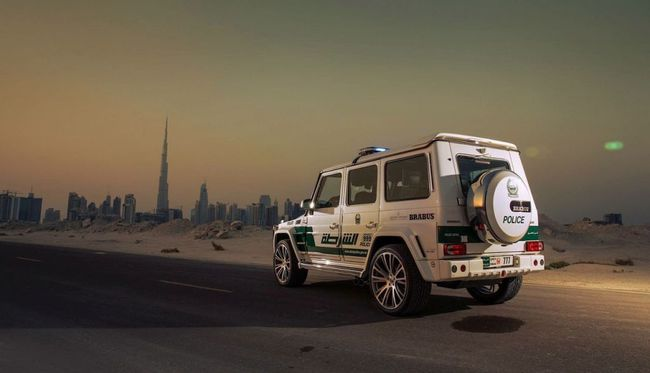 Brabus B63S policia Dubai 2013 04