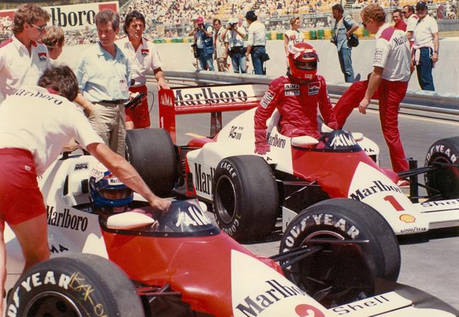 Niki Lauda Alain Prost McLaren