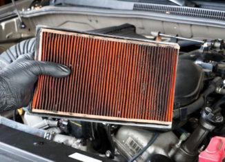 filtro de aire sucio