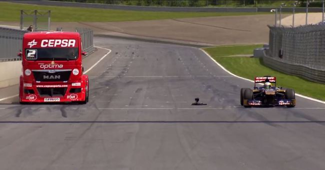 F1 vs camion