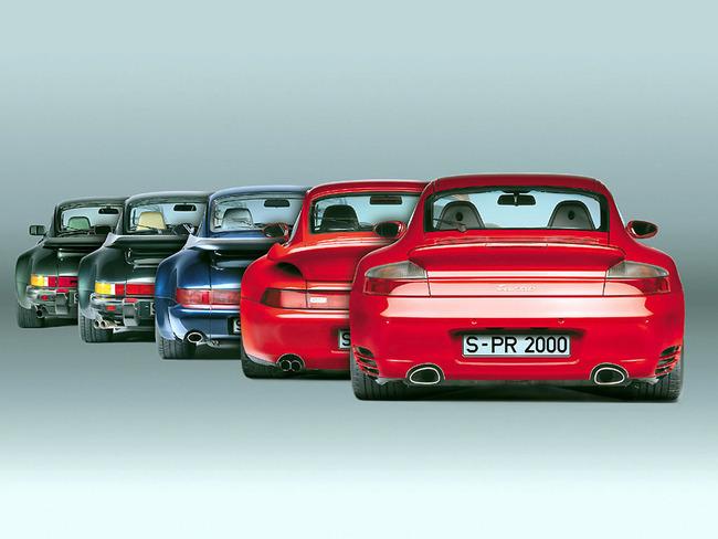Porsche 911 Turbo 5 generaciones