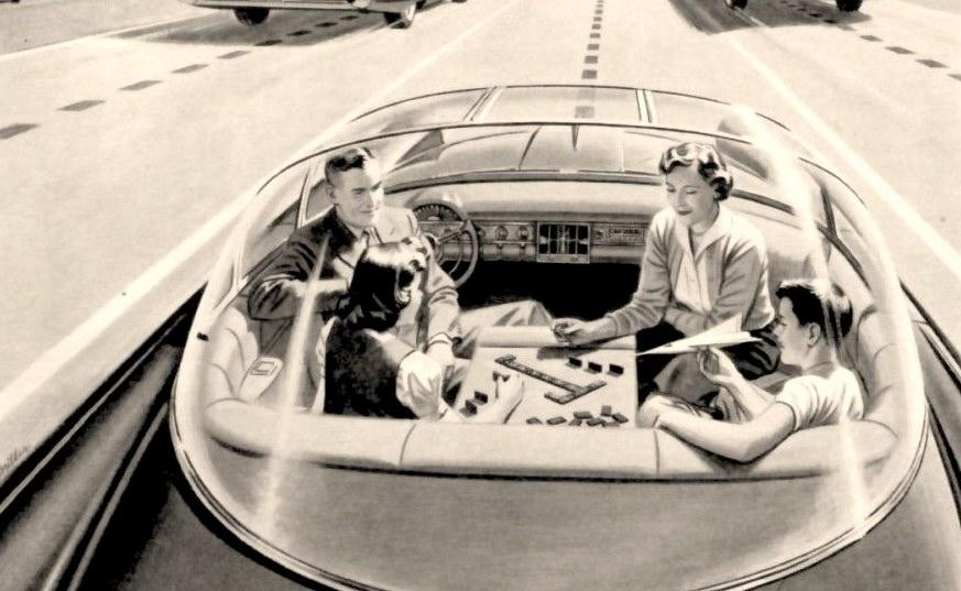 coche autonomo retrofuturo
