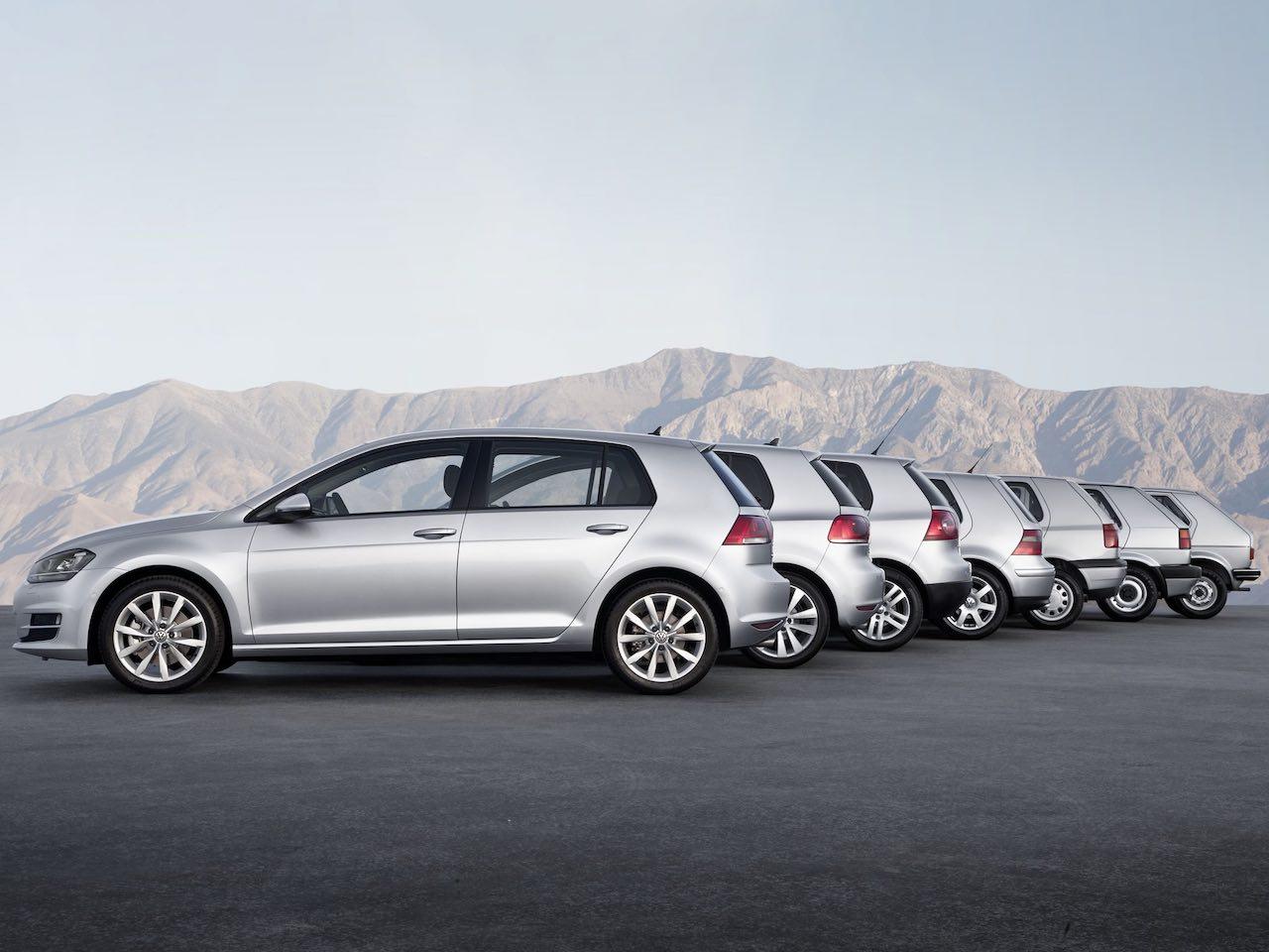 Volkswagen Golf 7 generaciones