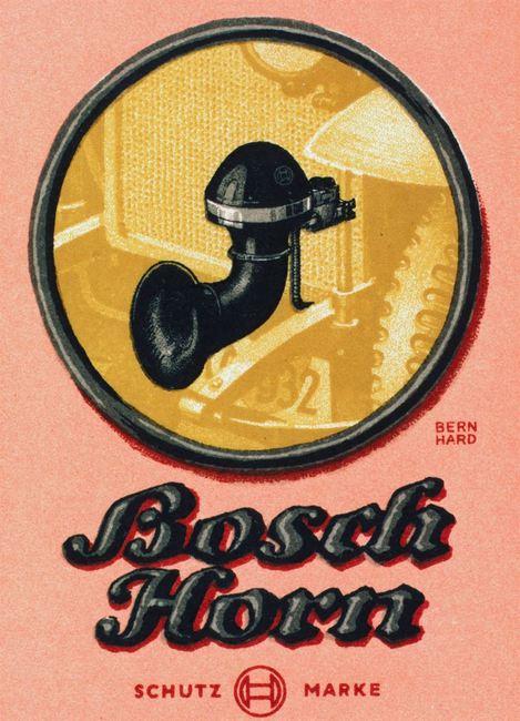 bocina electrica Bosch 1914