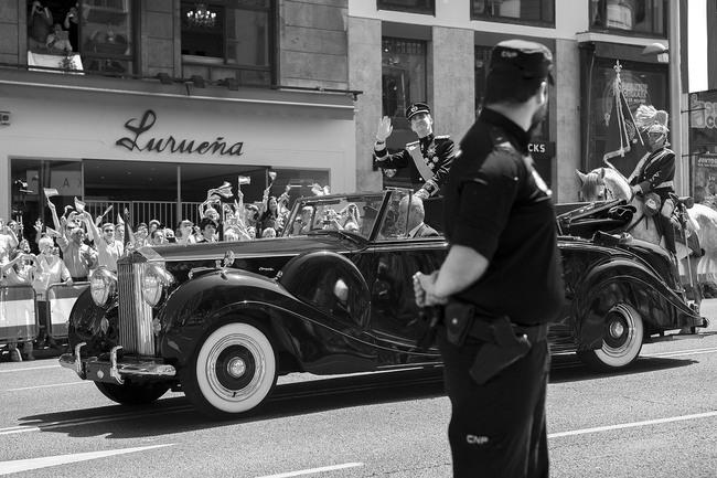 Rolls Royce descapotable coronación Felipe VI