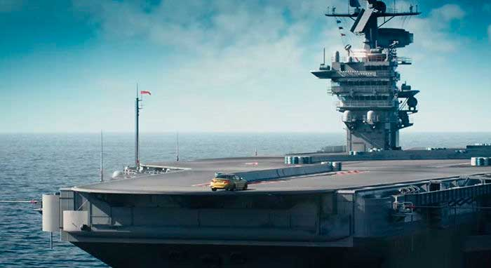 BMW M4 portaavioones
