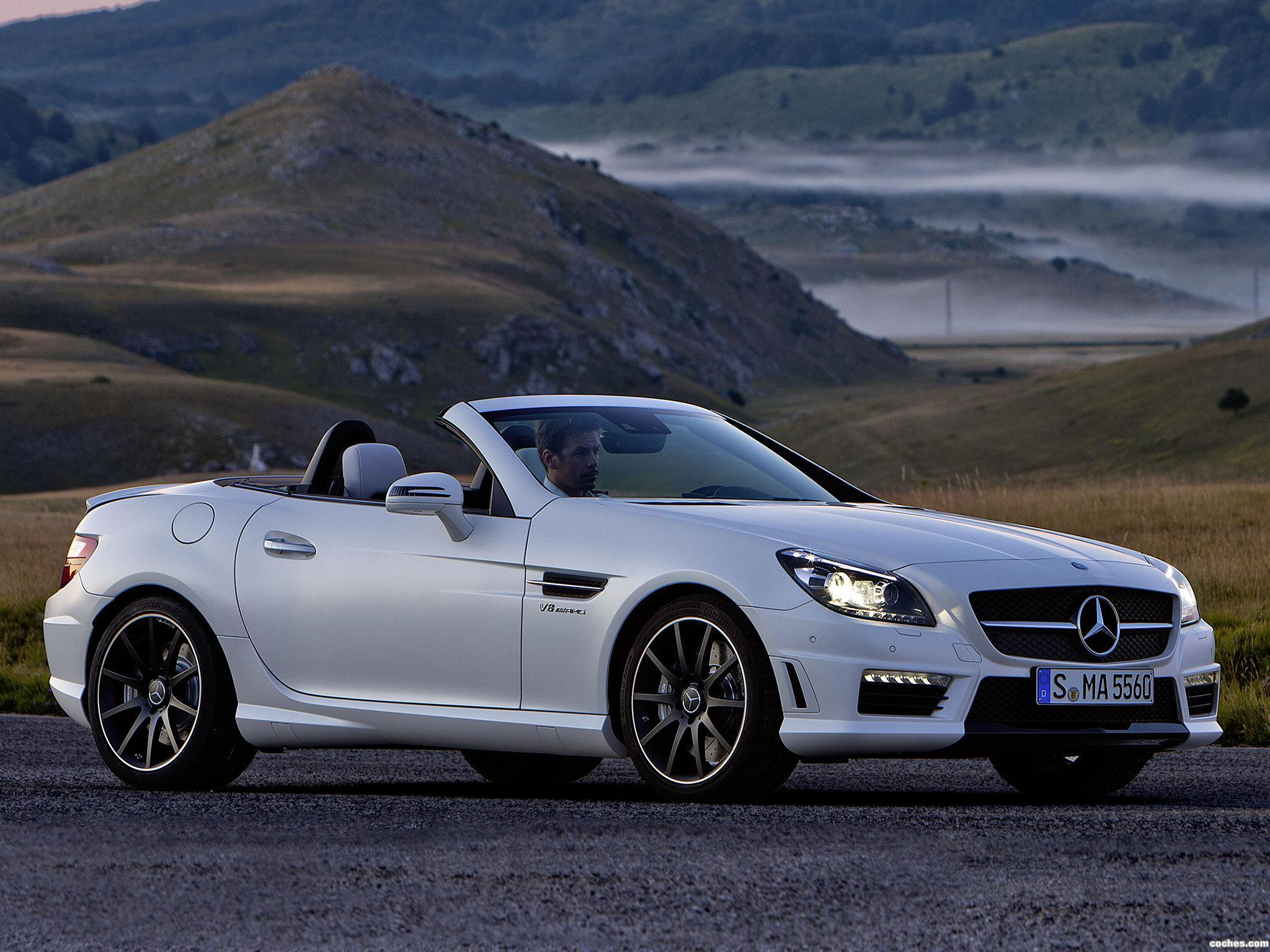 fotos de mercedes slk 55 amg 2011. Black Bedroom Furniture Sets. Home Design Ideas