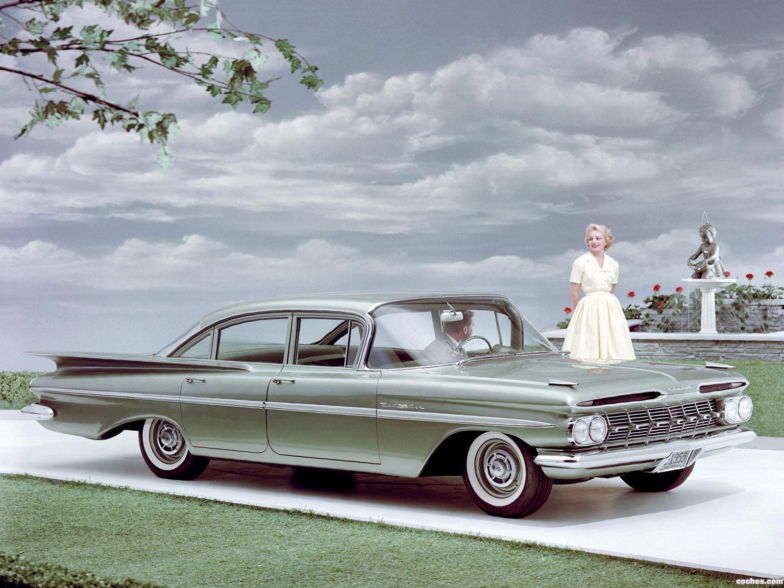 fotos de chevrolet bel air 4 puertas sedan 1959. Black Bedroom Furniture Sets. Home Design Ideas