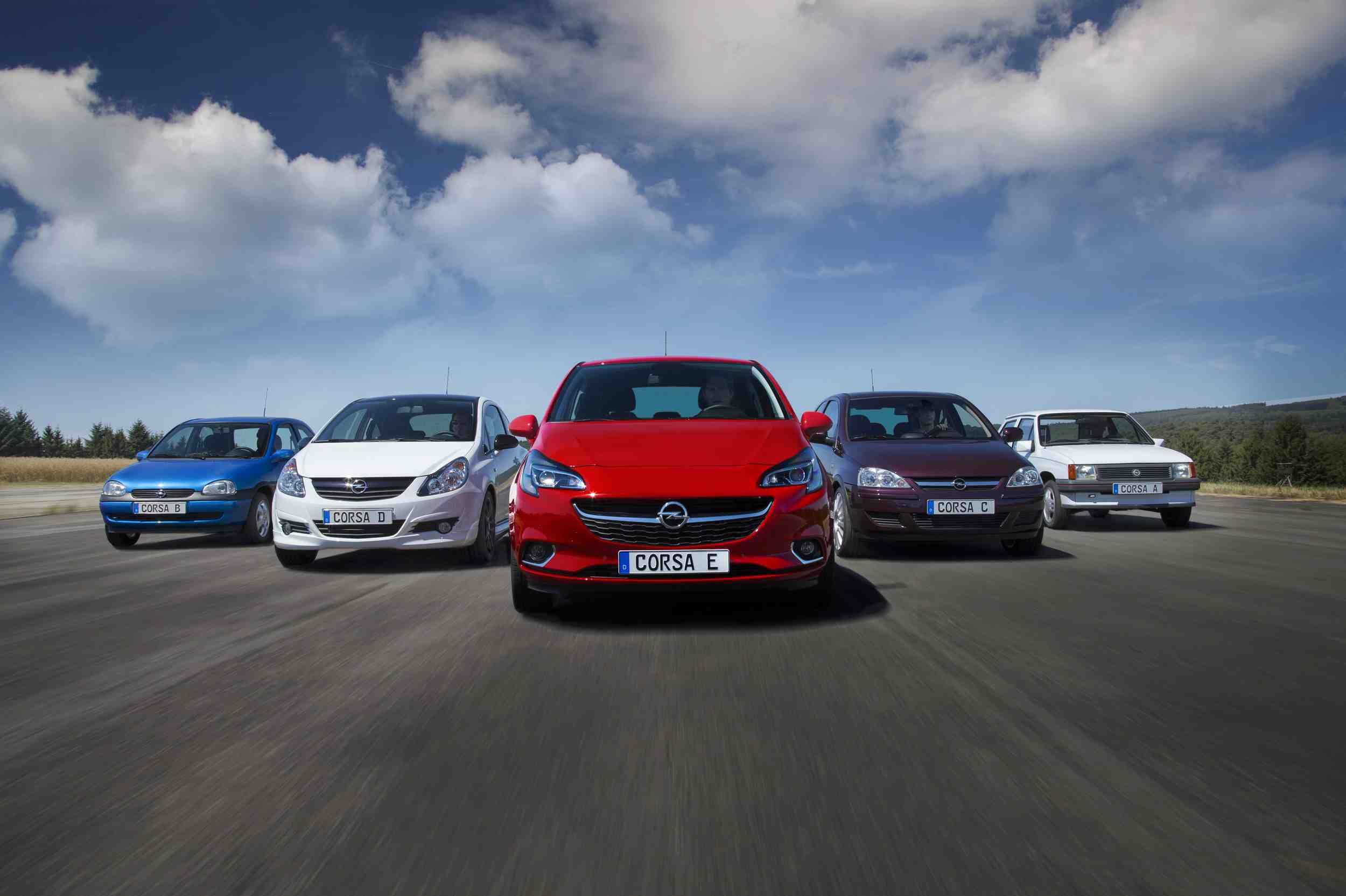 Opel corsa 5 generaciones