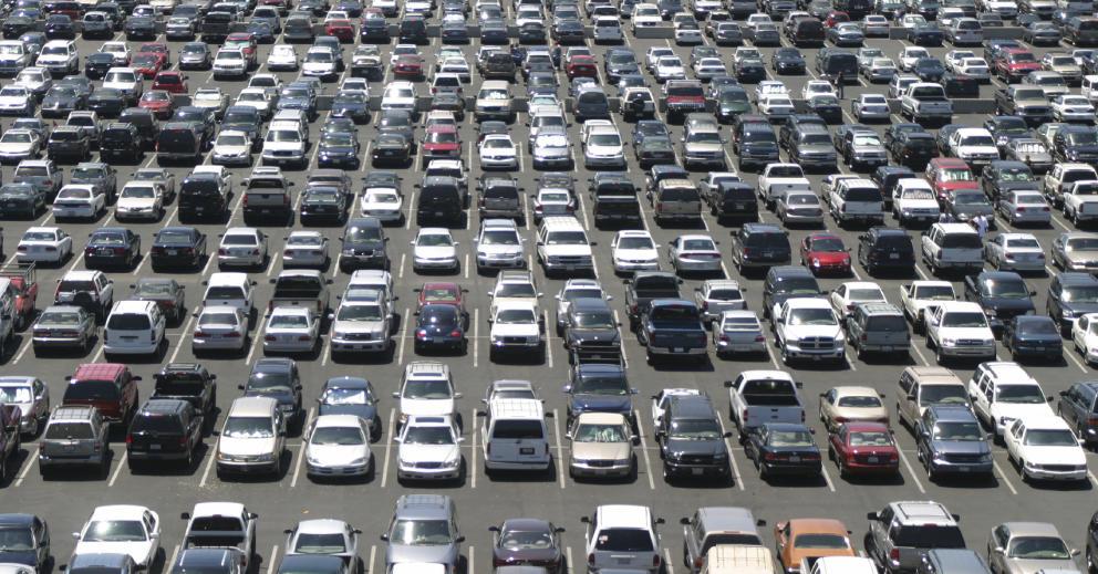 aparcamiento enorme