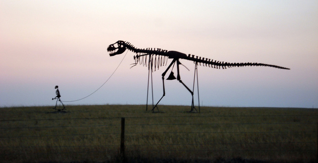 Hombre y Dinosaurio Gigantes - Murdo, South Dakota - Flickr Mukl Roventine