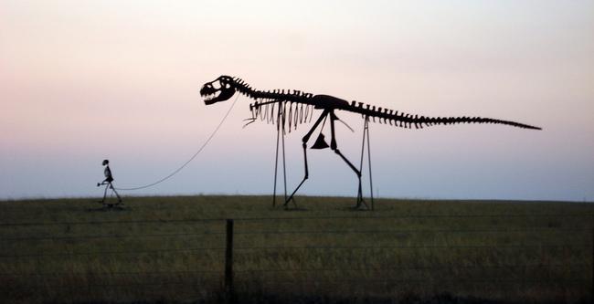 Hombre y Dinosaurio Gigantes - Murdo, South Dakota - Flickr Mukl Roventine