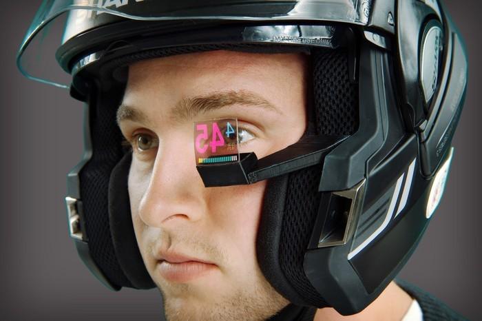 Motorcycle Helmet Hud >> El sistema HUD para motoristas con cámara trasera