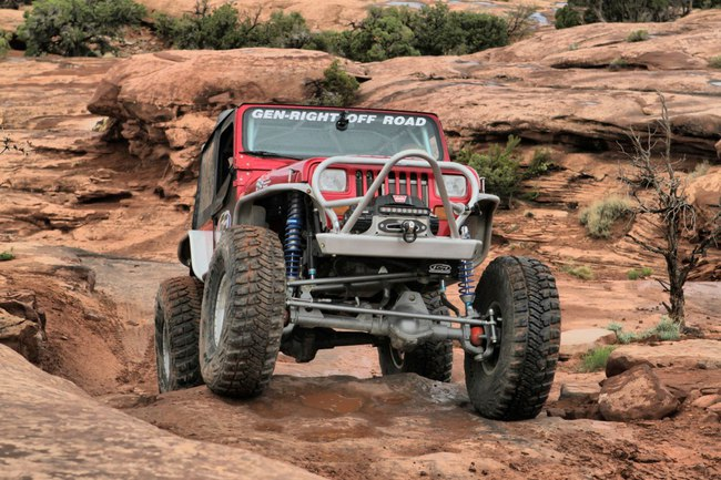 Jeep suspension rigida