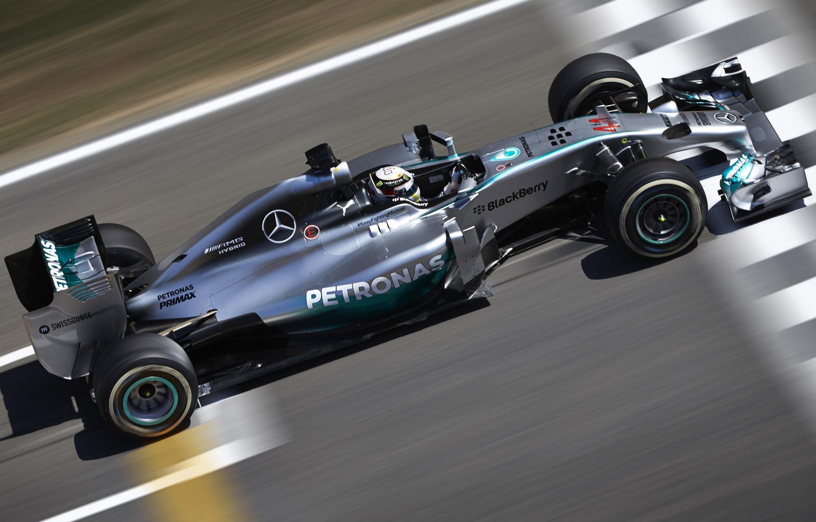 Mercedes AMG Lewis Hamilton 2014 F1 Spain GP