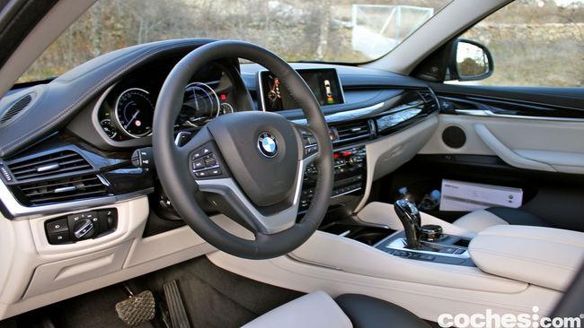 Prueba BMW X6 2015 interior 4