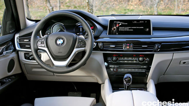 Prueba BMW X6 2015 interior 6