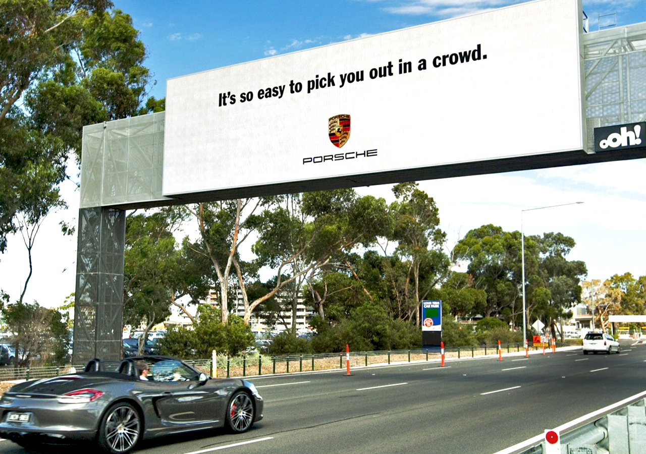 Publicidad de Porsche en Australia