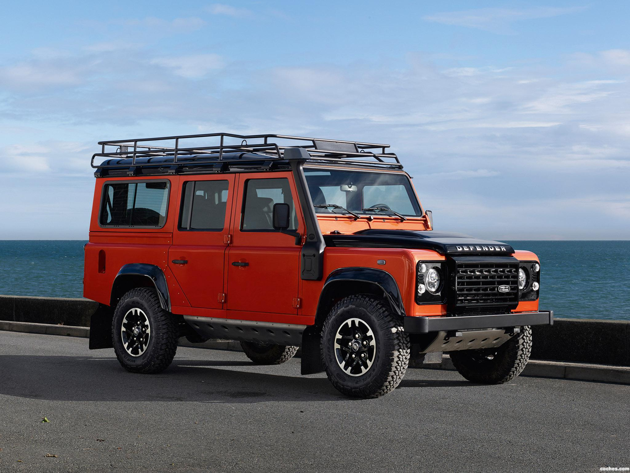 fotos de land rover defender 110 adventure 2015. Black Bedroom Furniture Sets. Home Design Ideas