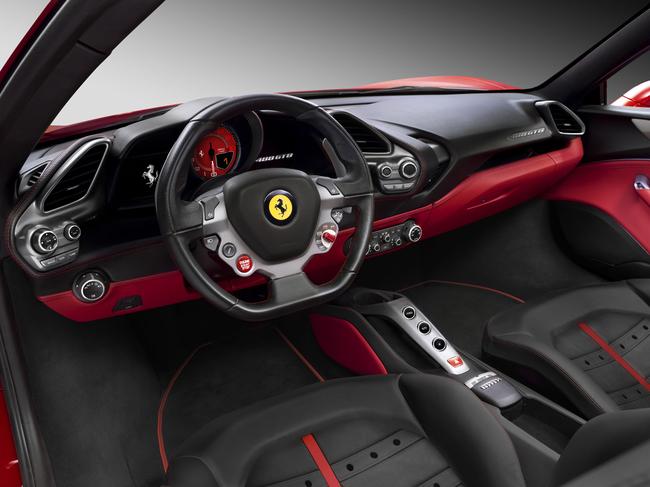 Ferrari 488 GTB 2015 interior 01