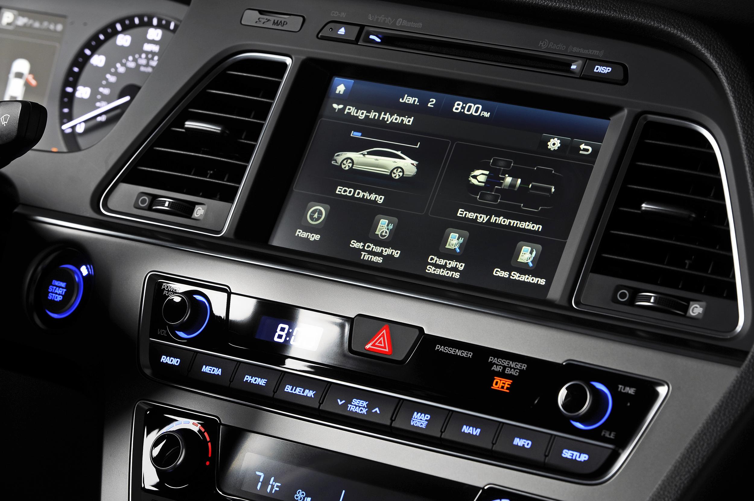 Hyundai sonata plug in hybrid apuesta por h bridos - 2015 hyundai sonata interior pictures ...