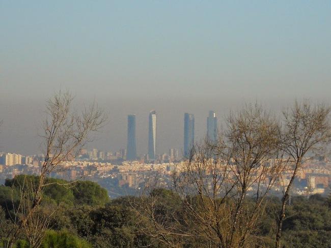 Madrid 4 torres contaminacion