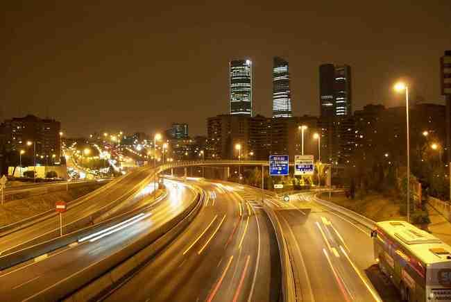 Madrid M30 noche