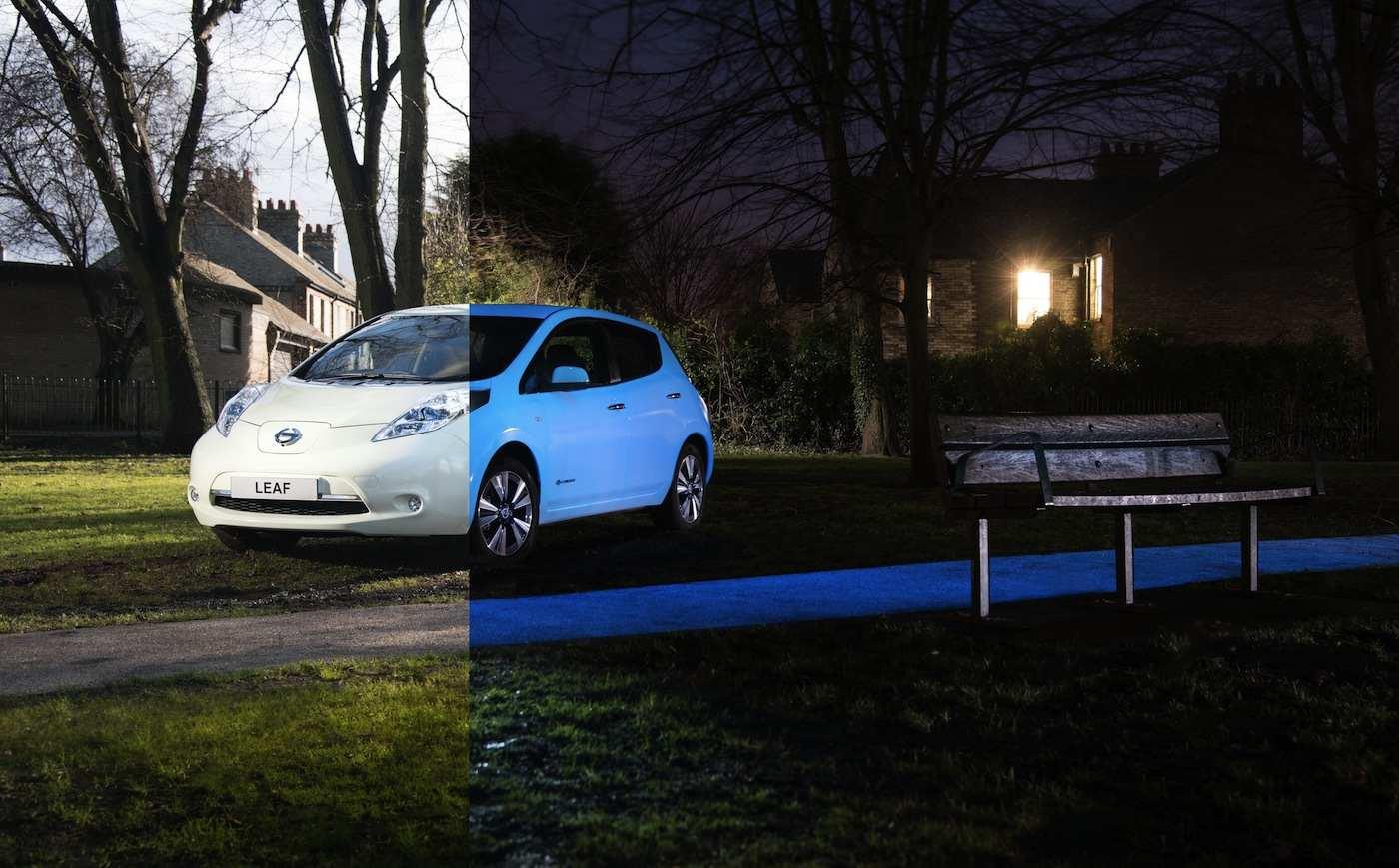 Nissan Leaf brilla oscuridad 2105 04