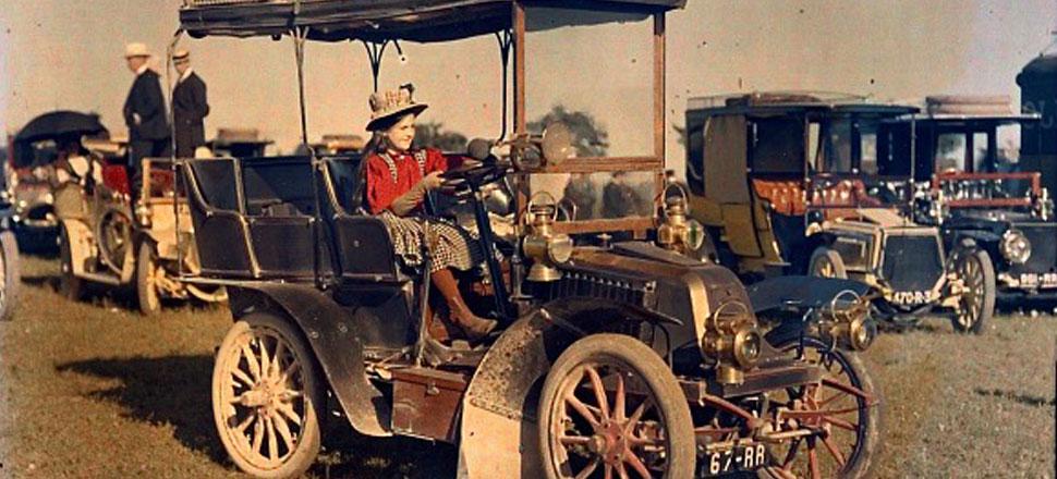 Renault. Fotografía con Autochrome 1906