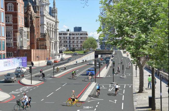 proyecto carril bici Londres