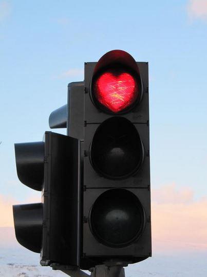 semaforo corazones Islandia