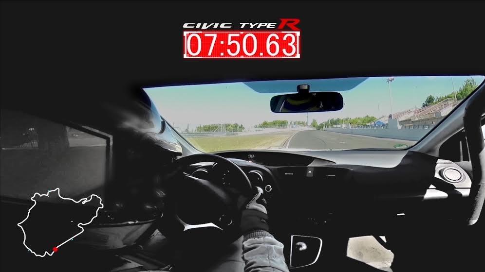 Honda Civic Type R desarrollo Nurburgring7:50.63 segunods